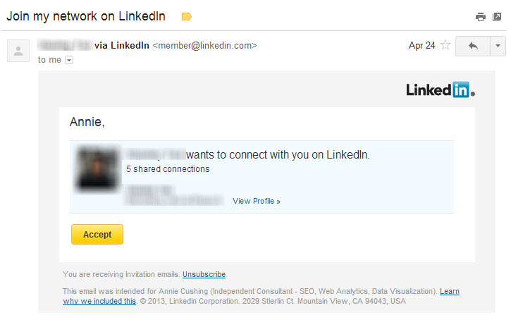 Linkedin spam invitation to connect stopboris Images